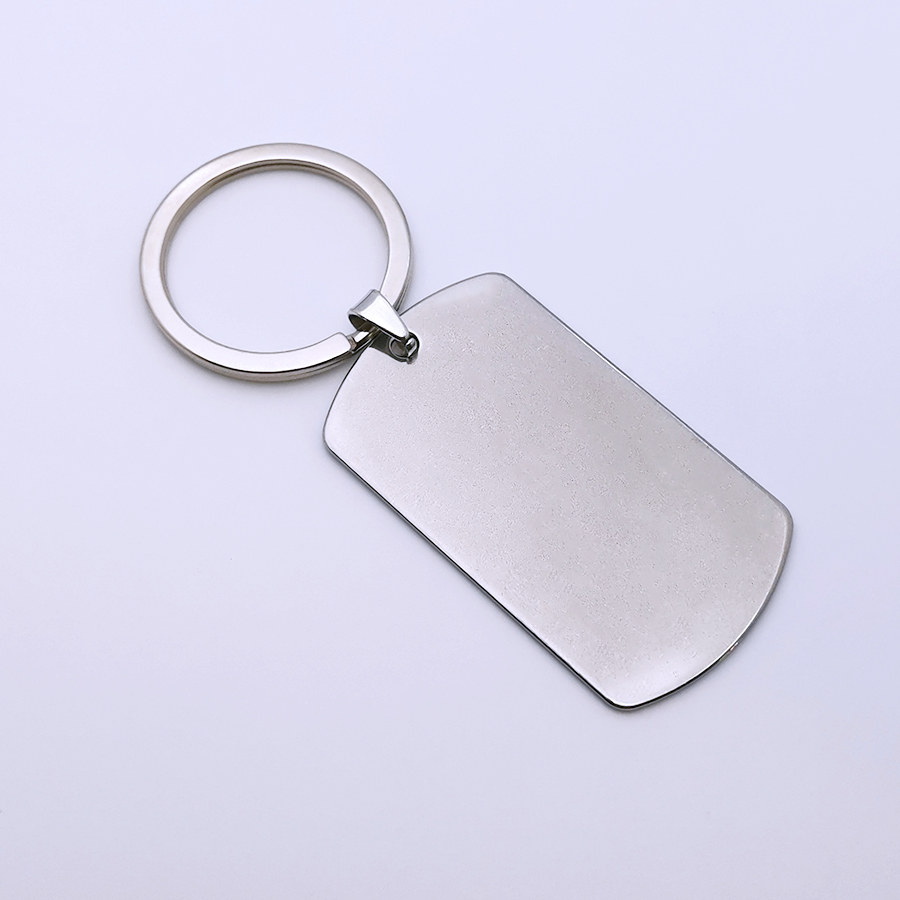 50 pcs 49*28mm Custom Personality Stainless Steel Keychain Engraved Any words Text Pattern Keyring Family Couples Boyfriend Gift