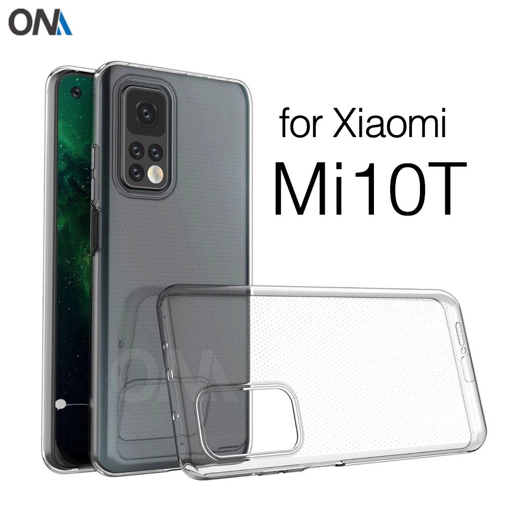 Чехол для Xiaomi Mi 10T Mi10T Pro 5G силиконовый прозрачный бампер из ТПУ мягкий чехол для Xiaomi Mi 10T Lite 5G прозрачная задняя крышка