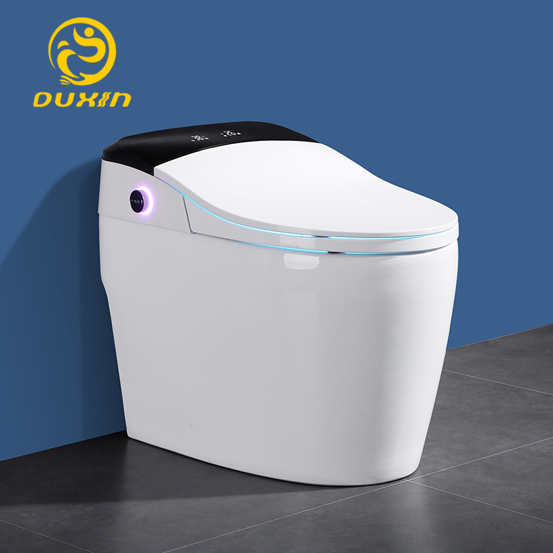 Smart toilet WC One piece toilet intelligent 110V Heated seats Wash and dry No water pressurefoot-feel flush limit 4