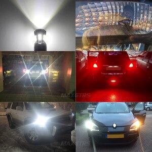 Image 5 - 2x החדש 7443 7444 7440 7441 992 W21/5W LED נורות עם מקרן עבור הפוך בלם זנב RV הפעל אות אורות לבן 6000K