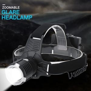 Image 1 - Linterna frontal LED XHP  P71 recargable por USB, superbrillante, con ZOOM, para pesca