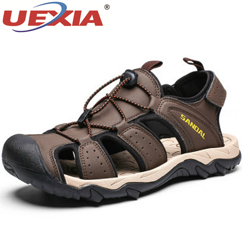 2020 New Summer Men's Sandals Quality Leather Roman Beach Shoes Comfortable Breathable Male Flats Casual Soft Driving Footwear