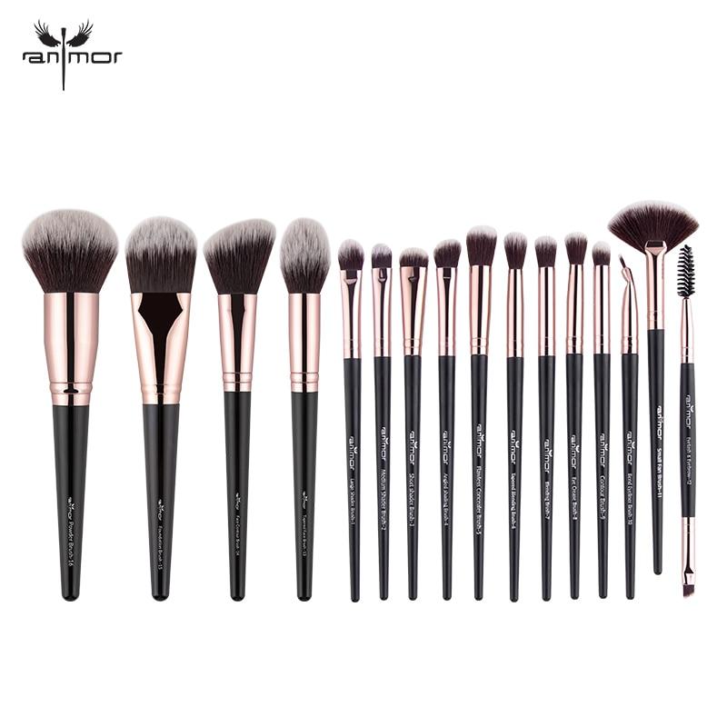 Anmor 16 Pcs Makeup Brushes Set Professional Eyeshadow Foundation Blush Powder Eyeliner Eyelash Lip Make Up Brush Cosmetic Tool