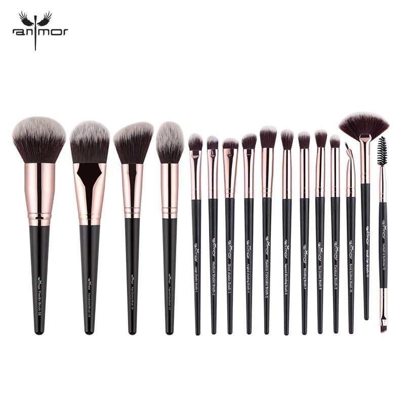 Anmor 16 Pcs Pincéis de Maquiagem Profissional Definida Sombra Fundação Blush Em Pó Delineador de Cílios Lip Make Up Brush Tool Cosméticos