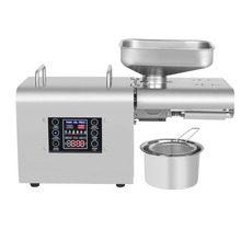 Intelligent Stainless Steel Oil Press Electric Small and Medium-sized Automatic Household and Commercial Hot and Cold Oil Press цена