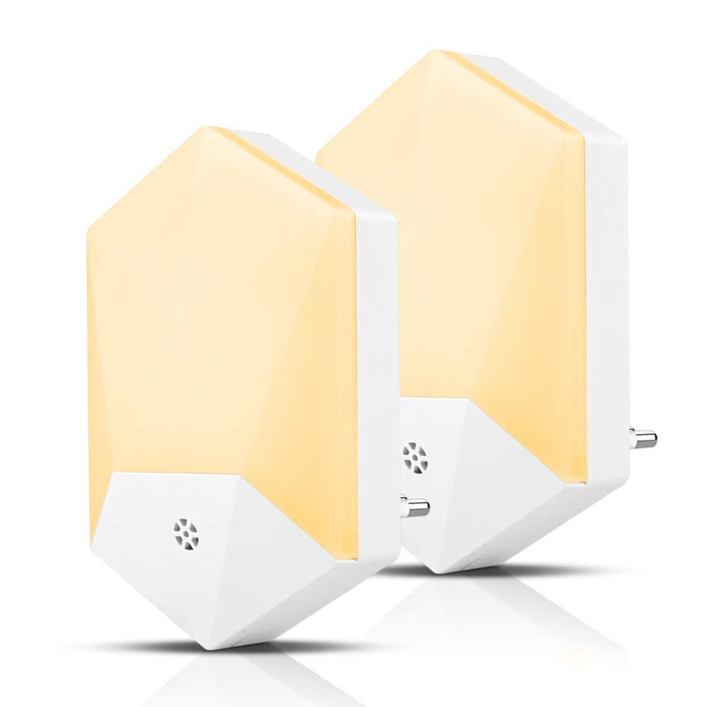 Night Light Automatic Dusk To Dawn Photocell Sensor Wall Lights, Night Lamp Lighting For Kids, Bedroom, Bathroom, Kitchen(2pack)