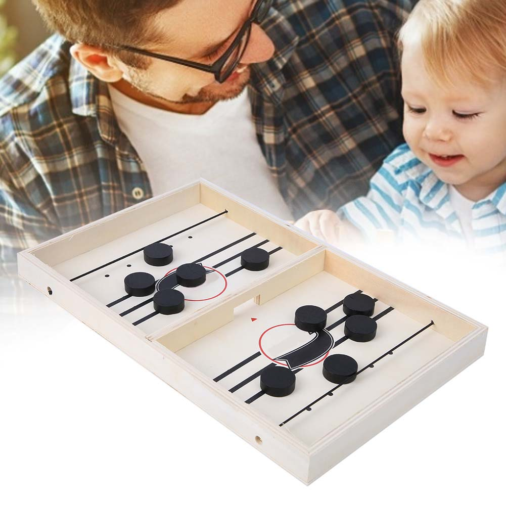 Table Desktop Battle 2 In 1 Ice Hockey Game Funny Classic Battle Board Games Catapult Chess Bumper Parent-child Interactive Game
