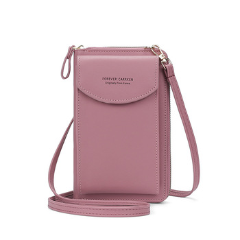 2020 Fashion Cell Phone Case Designer Small Shoulder Bag for Women PU Leather Ladies Crossbody Bag Female Mini Messenger Bags - Dk Pink