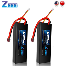 2units Zeee 5200mAh RC Lipo Batteries for RC Car Battery 7.4V Lipo 2s 50C with Deans Plug For RC Car Truck Helicopter Traxxas цена
