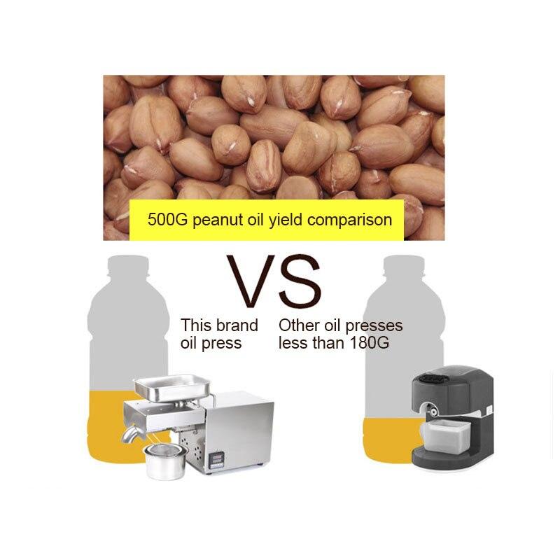 220V 1500WMax Voll Automatische Kaltpressung Ölpresse Hohe Temperatur Ölpresse Erdnuss Kokosöl Drücken - 4