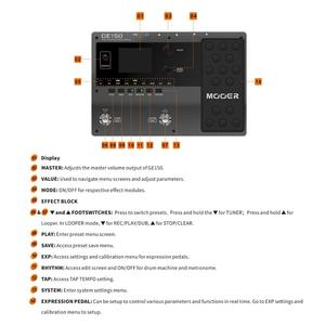 Image 5 - MOOER GE150 guitar pedal Amp Modelling & Multi Effects Pedal 55 Amplifier Models guitar pedal guitar accessories MOOER pedal
