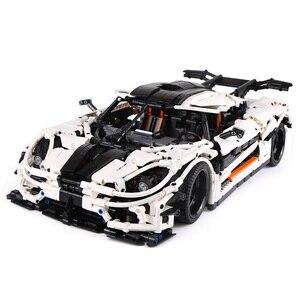 Image 2 - Lepining 23002 Technic samochody zabawkowe kompatybilne z MOC 10574 Koenigseggs uniwersalny samochodowy Model klocki klocki dla dzieci prezenty świąteczne