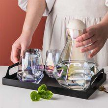 Jarra de vidrio con hervidor de agua fría, tetera, botella de agua, jarra, zumo, té, garrafa de gran capacidad, accesorios de cocina