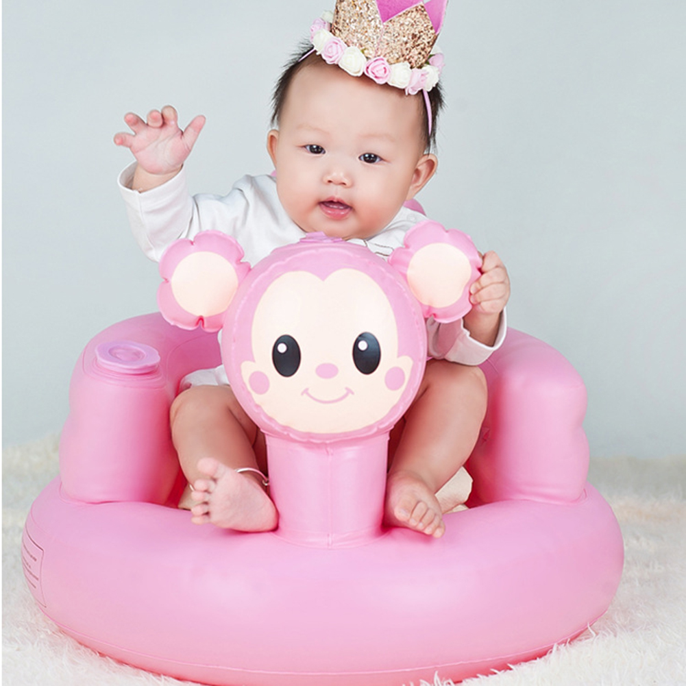 Baby Inflatable Sofa Seat Baby Learning Sitting Dining Chair Portable Multifunctional Bath Stool Fot Baby Learn To Seat Play