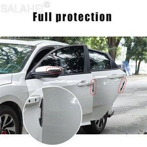 Image 2 - Koolstofvezel Auto Deur Anti Collision Bumper Strip Guards Side Protector Stickers Voor Peugeot 308 301 5008 408 307 206 207 Stijl