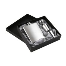 Hip Flask Kit 7oz Stainless Steel Pocket Funnel Cups Set Drink Bottle Whiskey Vodka Alcohol Drinkware