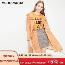 Vero Moda Women's Hooded Drawstring Mid-length See-through Light Trench Coat | 3