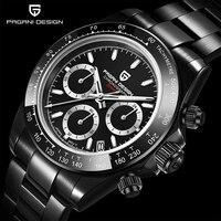 PAGANI DESIGN nuovi orologi da polso al quarzo da uomo con castone in ceramica Luxurys cronografo in vetro zaffiro 100m orologi da uomo impermeabili