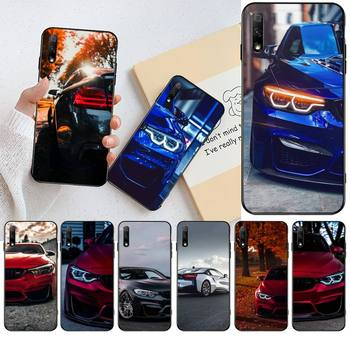 HPCHCJHM Blue Red Car for Bmw Coque Shell Phone Case for Huawei Honor 30 20 10 9 8 8x 8c v30 Lite view pro image