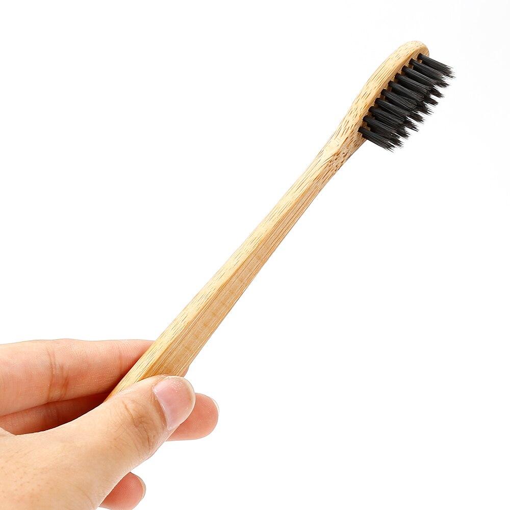 1 шт., зубная щетка из натурального чистого бамбука