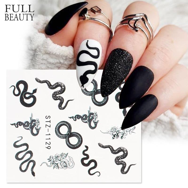 Змеиный дизайн ногтей, наклейки в виде животных, Розовый дракон, слайдер для переноса воды, наклейки для ногтей, украшения, аксессуары для ма...