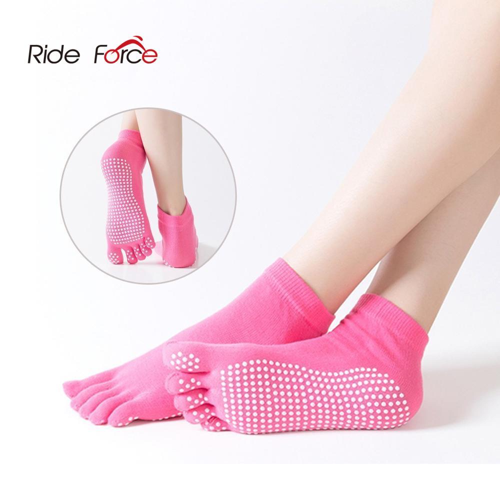 1 пара, женские спортивные носки для йоги, Нескользящие тапочки с пятью пальцами, женские носки для пилатеса, Профессиональный Балетный кабл...