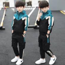 Novos meninos conjuntos de roupas primavera outono adolescente menino roupas crianças algodão casual esportes terno crianças moda agasalho para 5-14y