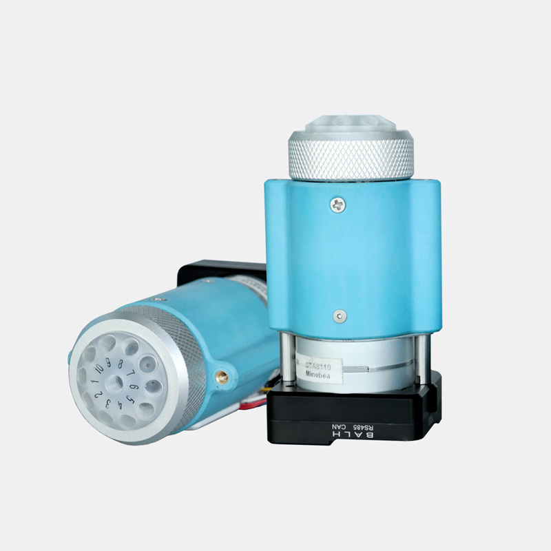 Liquid Distribution Multiport Selector Valve Compact Size Microfluidic Analysis Distributor Valve