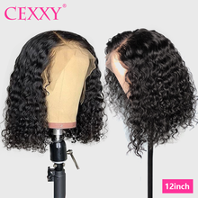 Rizado Bob 13x4 frente de encaje pelucas de cabello humano malayo 4*4 Cierre pelucas de pelo rizado corto Bob pelucas para mujeres de la onda profunda peluca