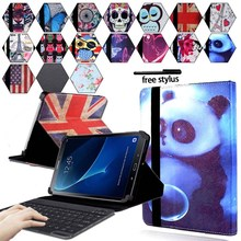 KK&LL For Samsung Galaxy Tab A A6 10.1 T580 T585 (2016)  - Leather Tablet Stand Folio Cover Case + Bluetooth keyboard