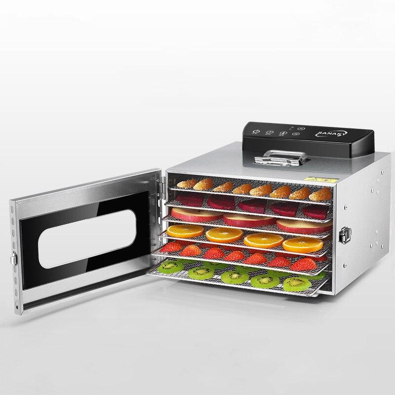Déshydrateur de déshydratation alimentaire déshydrateur Machine à fruits secs séchoir à fruits 6 couches grande capacité synchronisation tactile mise hors tension automatique
