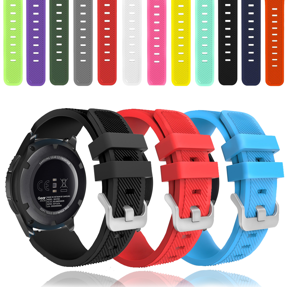 Galaxy Watch Active 2 For Samsung Gear S3 Frontier 46mm 42mm Amazfit Bip Huawei Watch Gt Strap 22mm Watch Band Silicone Bracelet
