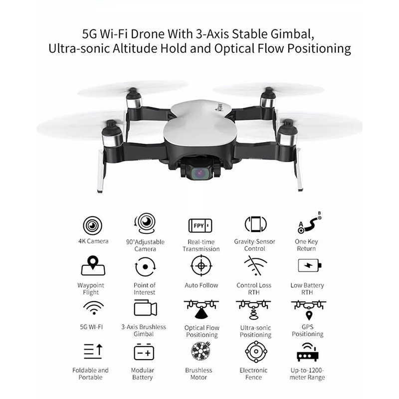 Eachine EX4 4 5 グラム wifi 1.2 キロ fpv gps 18k hd カメラ 3 軸安定したジンバル 25 分の飛行時間 rc ドローン quadcopter rtf vs X12