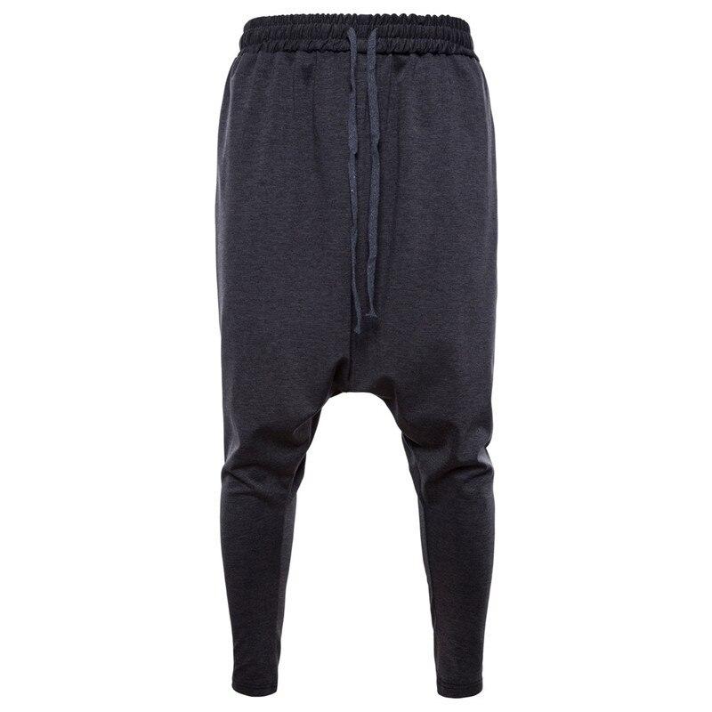 Men's Hippie Harem Pants Men Streetwear Black Grey Loose Sweatpants Spring Autumn Punk Low Drop Crotch Trousers X9189