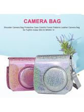 2019 New Shoulder Camera Bag Protective Case Colorful Forest Patterns Leather Camera Bag For Fujifilm Instax Mini 8/ MINI8+/ 9 цена
