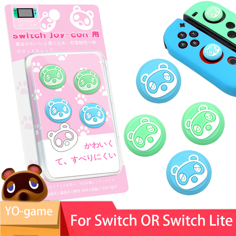 4 Pcs Gaming Rubber Thumb Stick Grip Cover For Switch Lite Joycon Controllers Button Stick, Switch Analog Joy Con Joystick