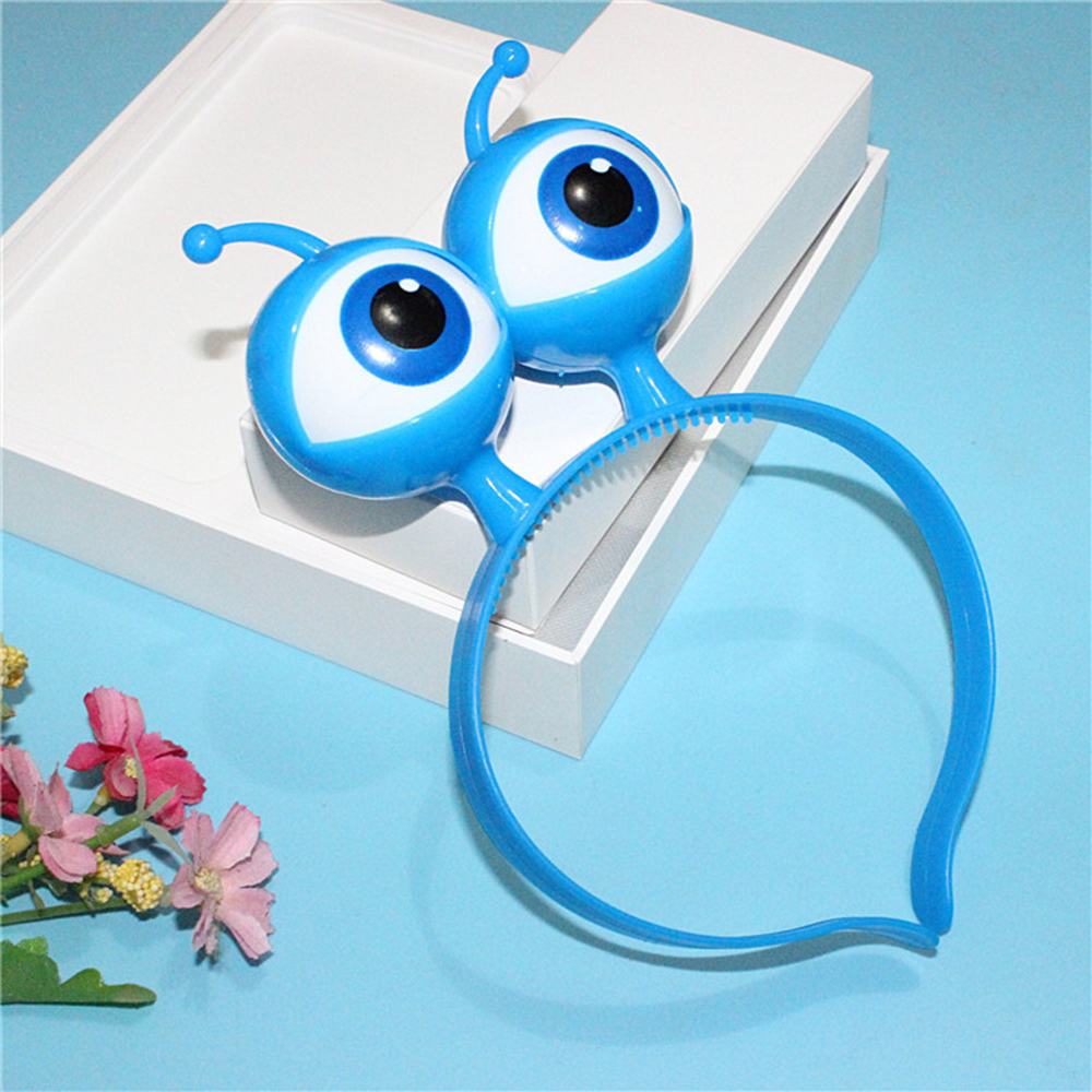 Vocal Concert Supplies Kids LED Light Luminous Headband Halloween Aliens Eyes Head Hair Hoop Band Party Decoration Christmas Toy