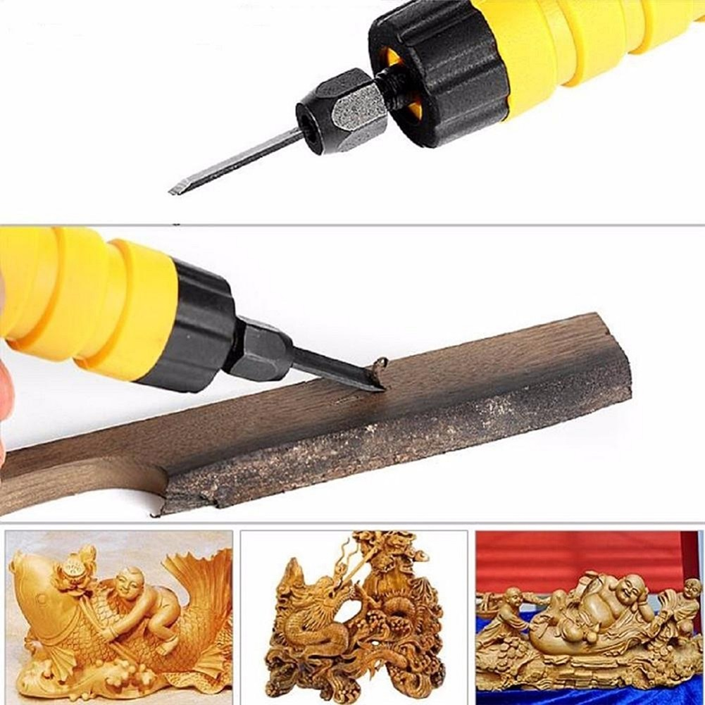 Professional Carved Electric Woodcut Hand Chisel With Flexible Shaft Set Furniture Carpentry Root Carving Knife Woodworking Tool