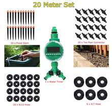 69 Pcs/set 20 M DIY Mikro Sistem Irigasi Tetes Selang Air Controller Timer Disesuaikan Drippers Otomatis Taman Air Kit(China)
