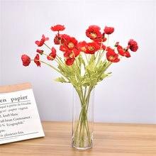 1 bouquet 4 60 cm artificial corn poppy bouquet DIY living room home garden wedding decoration hotel decoration fake flowers