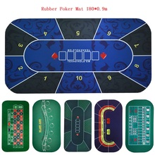 180*90Cm Table Cloth Rubber Suede Square Green Roulette Black Jack Poker Table Mat Poker Gaming Board Cloth with Shoulder Bag