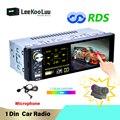 Автомагнитола LeeKooLuu, 1 Din, 4,1 дюйма, USB, Bluetooth, FM, AM, RDS