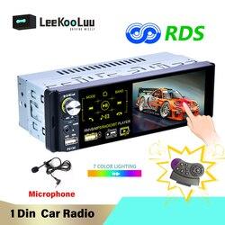 LeeKooLuu Car Radio 1 Din Autoradio 4.1'' Car Multimedia Player Audio USB Bluetooth FM AM RDS Radio Remote Control 1Din Stereo