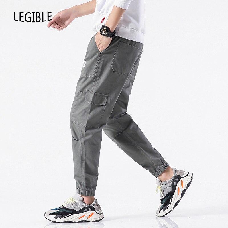 2019 Spring Autumn Pants Men Multi-pocket Cargo Pants Elastic Waist Harem Pant Hip Hop Casual Loose Joggers Male