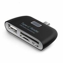Lecteur de carte mémoire Micro SD USB C 3.1 Type C vers USB 3.0 adaptateur de moyeu OTG