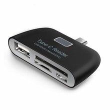 Mikro SD hafıza kart okuyucu USB C 3.1 tip C USB 3.0 OTG HUB adaptörü