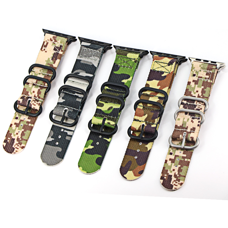 Hot Sell Nylon Band Watch Bracelet For Apple 3/2/1 Series Sport Leather Bracelet 42mm 38mm Band Strap For Iwatch