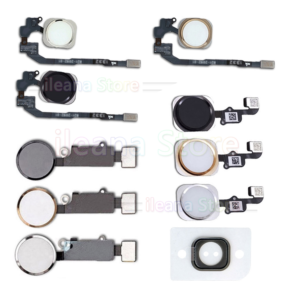 Home Button Flex For IPhone 7 8 Plus 5s SE 7Plus 8Plus Home-Button With Flex Cable For IPhone 6 6s Plus No Fingerprint