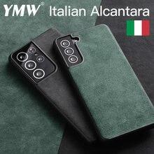 YMW ALCANTARA чехол для Samsung Галактики S21 ультра S20 S10 S9 S8 плюс Note20 5G Роскошные Бизнес искусственная кожа телефонные чехлы