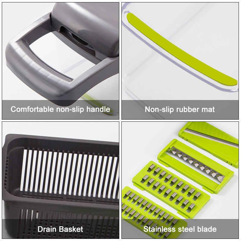 Upgrade Multifungsi Sayuran Cutter Dapur Gadget Bawang Putih Bawang Pisau Pengupas Kentang Wortel Parutan Dapur Aksesoris